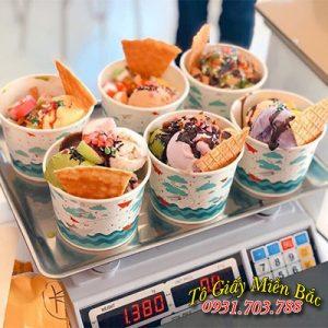Cốc giấy đựng kem tự chọn đẹp mắt mua ở đâu?