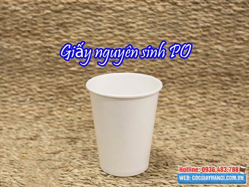 Giấy nguyên sinh PO sản xuất cốc